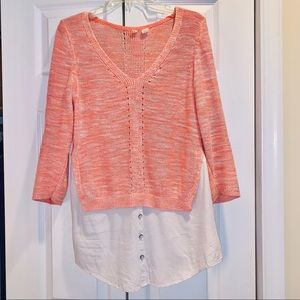 Anthropology Moth top size medium